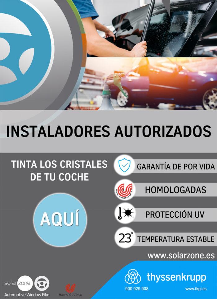 Cartel installador autorizado SolarZone