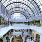aplicación de láminas solares en los lucernarios del centro comercial Diagonal Mar