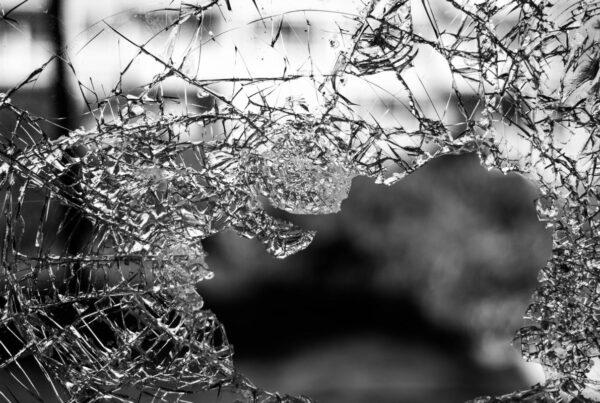Cristal roto laminas de seguridad